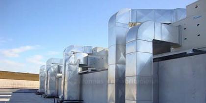 Sistema de climatizacion de centro comercial por conductos